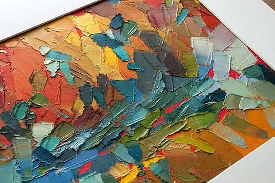 Kaleidoscope Heart - Original Painting by Kostadina Nacheva